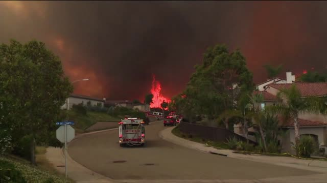 Fire Tornado in San Diego