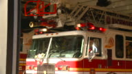 MS PAN Fire truck leaving station with lights flashing/ Richmond, Virginia