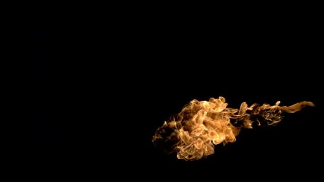 Fire-burst slow motion