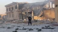 Firefighters try to extinguish a fire at an ammunition depot after an explosion on August 05 2017 in Erbil Erbil Governor Nawzad Hadi speaks to the...