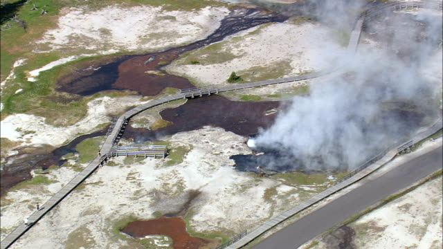 Firehole And Hot Lakes  - Aerial View - Wyoming,  Teton County,  helicopter filming,  aerial video,  cineflex,  establishing shot,  United States