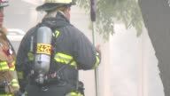 Firemen At Scene Of House Fire on July 24 2013 in Carmel Indiana