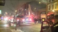 Firemen putting out fire on a fire truck on January 29 2011 in Chicago Illinois