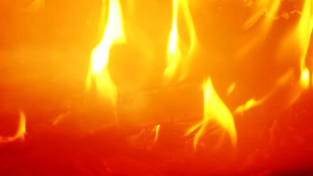 Fireplace, close up 4K UHD