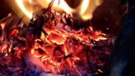 Brennholz Ofen Flamme