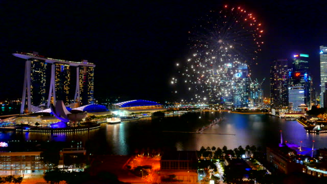 Firework at singapore city
