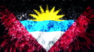 firework display flag of Antigua and Barbuda