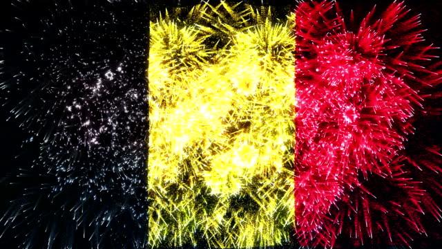 firework display flag of belgium