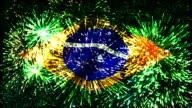 Feuerwerk Flagge von Brasilien