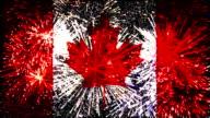 Feuerwerk Flagge von Kanada
