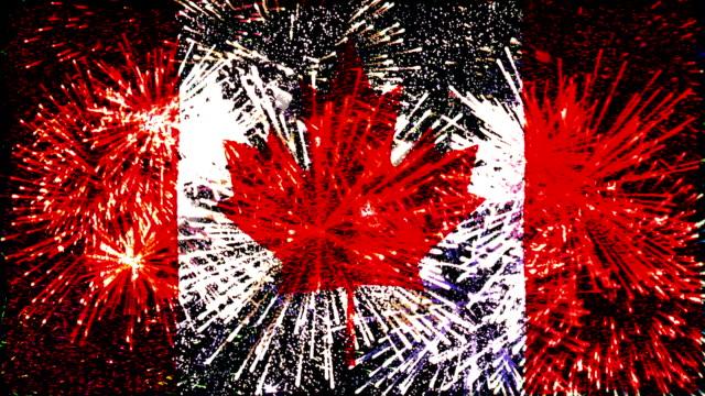 firework display flag of canada