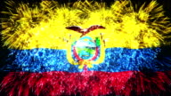 firework display flag of Ecuador