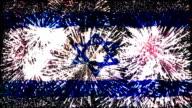 Feuerwerk Flagge von Israel