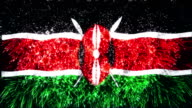 firework display flag of Kenya