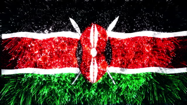 firework display flag of Kenya