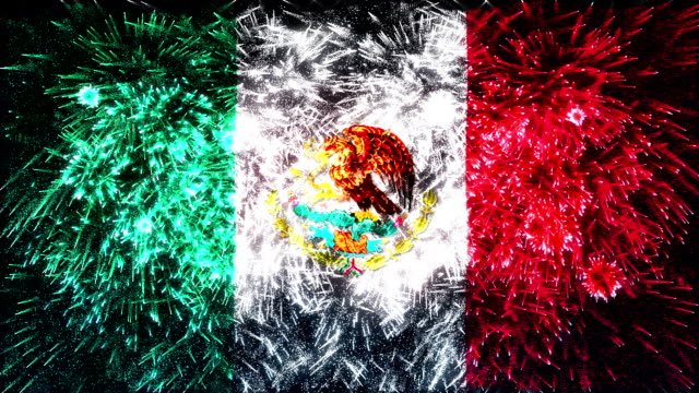 firework display flag of Mexico