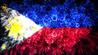 firework display flag of Philippines