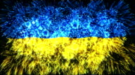 firework display flag of Ukraine