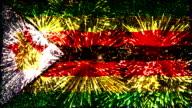 vuurwerk vlag van Zimbabwe