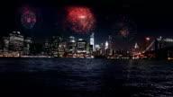 Feuerwerk über Manhattan, New York