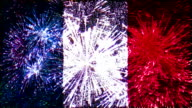 firework flag of france