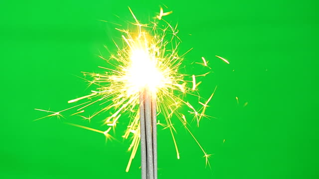 Firework Full HD Video With Green Screen Background