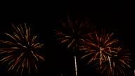 Feuerwerk In den Nachthimmel Full HD-Videos