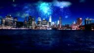 Firework over Manhattan New York
