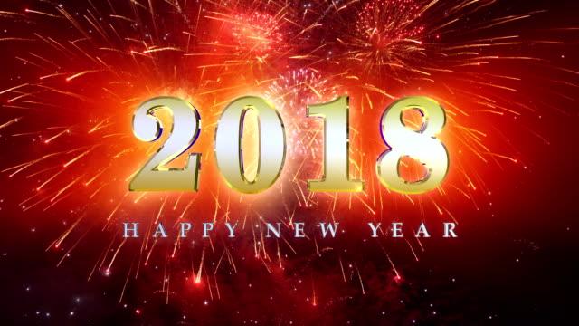 Fireworks 2018 år i 4K slow motion