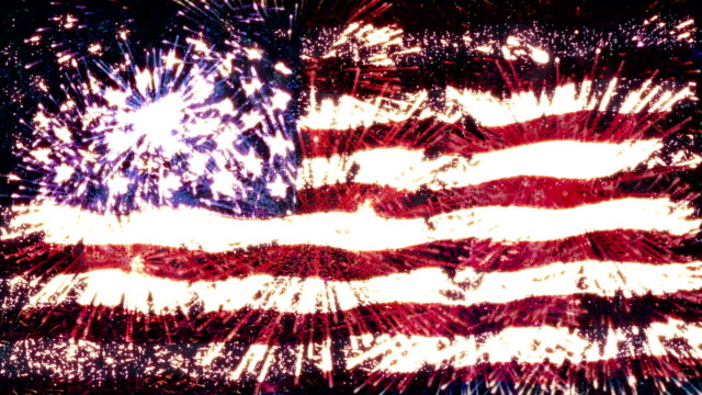 fireworks flag of usa