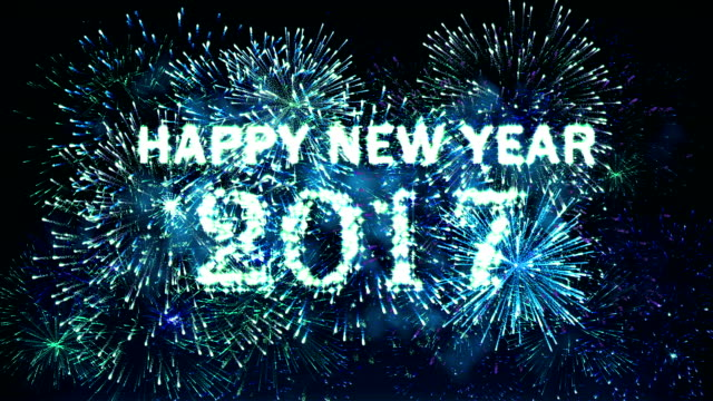 Fireworks Happy New Year 2017 Blue Stock Footage Video | Getty Images
