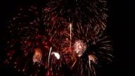 Feuerwerk und Feuerwerkskörper.