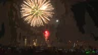 Fireworks usher in Independence Day in Pakistan as part of celebrations marking the 70 years since the country was formed after the partition of India