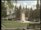 First Cabinet meeting since reshuffle ITN MS Houses of Parliament AV Big Ben gothic towers in f/g