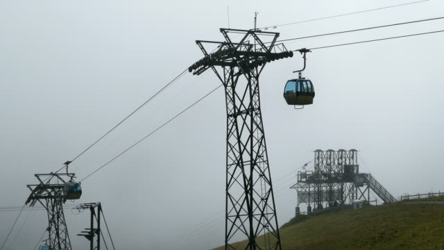 First Cable Car, Grindelwald, Bernese Alps, Switzerland, Europe