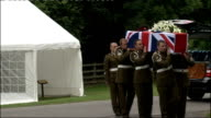First ever Elizabeth Cross presented to widow of British soldier killed in Afghanistan ENGLAND Yorkshire Catterick EXT * * Bagpipes music heard...