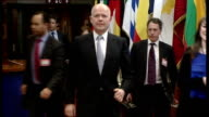 First Lady Asma alAssad's assets frozen by European Union BELGIUM Brussels William Hague MP leaving European Union foreign ministers meeting and...