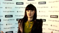 Interviews Andrea Riseborough interview SOT On how great the awards are for kids What she did when she was young