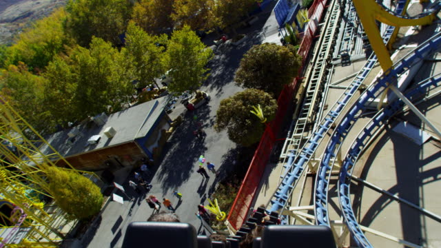 First person view on a roller coaster