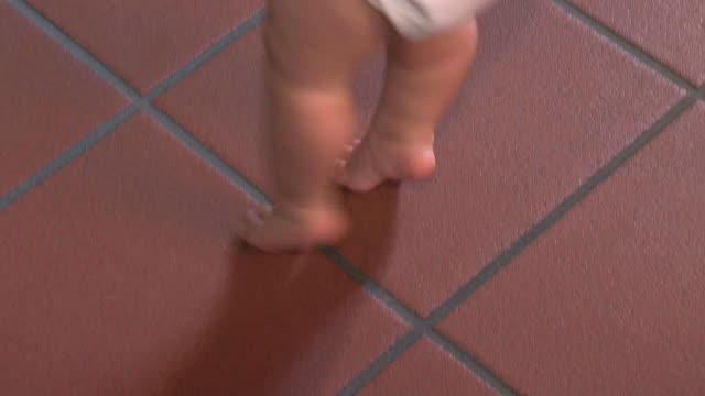 First steps of a baby