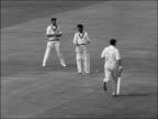 England v West Indies May gets century ENGLAND Birmingham Edgbaston EXT May bats and runs Smith bowls to May run Atkinson bowls to Colin Cowdrey and...