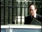First unemployment rise in ten years Malcolm Rifkind MP arriving at 10 Downing St Other Political officials arriving at 10 Downing St