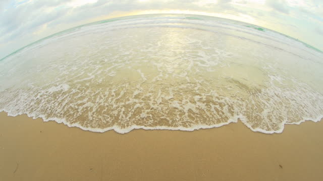 HD SUPER SLOW-MO: Fish Eye Shot Of Florida Beach