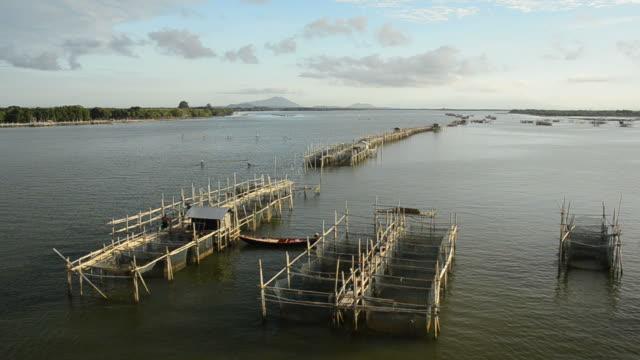 Fish farm in gulf of Thailand.