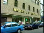 Fish finger scandal GV Branch of Marks and Spencer CMS Vox Pops i/c SOT NAF