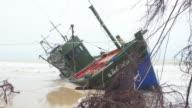 Fisherman boat aground in Thailand