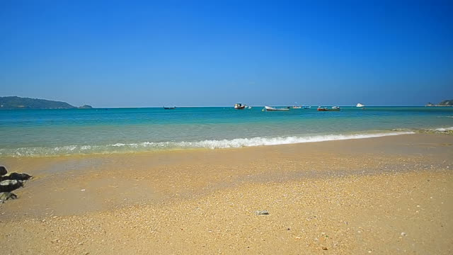 Fisherman boats on tropical beach