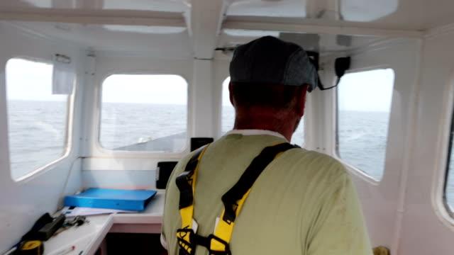 Fisherman driving a boat