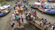 Fisherman unload fish in Launch in Coastal area in Bangladesh on August 14 2017 Bangladesh a country which is ranked as one of the world's most...