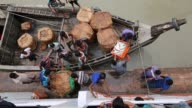 Fisherman unloading fish in Launch to sell them in Dhaka in Coastal area in Bangladesh on August 14 2017 Bangladesh a country which is ranked as one...